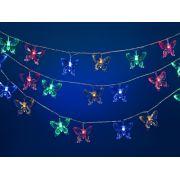 н.г.эл.гирл.LED 50л.бабочек многоцветн.(2/8ф) в пвх (прозр.провод 4.9м + 1.5м до розетки)