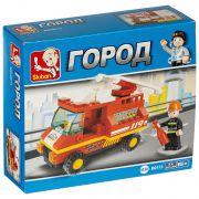 Констр. пласт. разобр. BOX Пожарная машина 74дет., арт.M38-B0173R