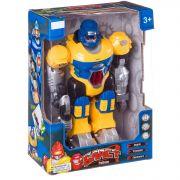 Робот Бласт на батар.,ходит,свет.,озвуч,подвижн.руки и голова,жёлтый,ВОХ 20х11,5х28см,арт.ZYC-0752-4