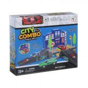 Игровой набор, City Combo , полиц. офис,1мет. маш., ВОХ 21х19х6 см, арт.P1201A-3.