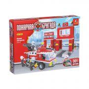 Констр.пласт.Пожарная бригада 301дет., BOX 35х25х5см, арт.21602.