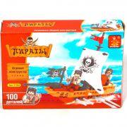 Констр.пласт.Пираты 100дет.,BOX 18х13х4,5 см, арт.27302.
