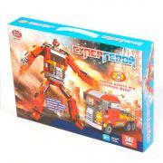 Констр. пласт. Play Smart Супергерой,241 дет.,2в1 робот-огнен.фура, BOX 36х25х6см, арт. 8117.