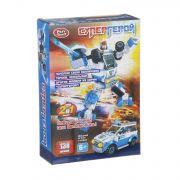 Констр. пласт. Play Smart Супергерой,138 дет.,2в1 робот-автомобиль, BOX 27х20х5см, арт. 8113.