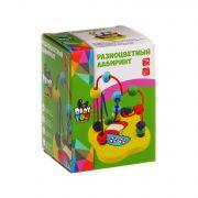 Игр. дерев., Разноцветный лабиринт, Bondibon, BOX 7,5х7,5х10,5 см., арт. TKB007