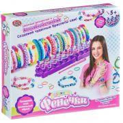 Набор для плетения из резиночек  со станком, Play Smart,радужные Фенечки,BOX 30x4,5x26 см,арт.2605.