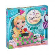 Набор Я дизайнер, Bondibon, сделай сумку из пластин 21х23,5 см., роз-салат, Box 25,4x25,4x4 см., арт