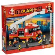 Констр. SLUBAN пласт. разобр.BOX Пожарные спасатели,270 дет., арт. M38-B0221R.