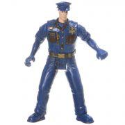 Игрушка пласт., фигурка полицейского с оружием, РАС 11 см, арт. A3.