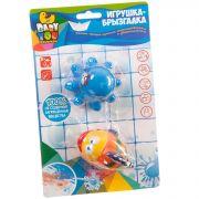Игр. наб. для купания с брызгалкой, Bondibon, рыбка, осьминог, CRD, арт. 6201