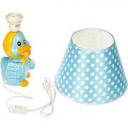 керам.лампа настольная детск.голуб.h37см с плафоном