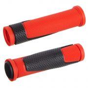 Грипсы HL-G305, 125 мм, черные/красные
