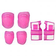 Защита детская STG YX-0304 комплект: наколенники, налокотник, защита кисти.Розовая, размер S