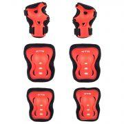 Защита детская STG YX-0317 комплект: наколенники, налокотник, защита кисти.красная , размер S