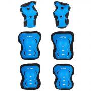 Защита детская STG YX-0317 комплект: наколенники, налокотник, защита кисти.синяя , размер S