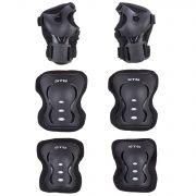 Защита детская STG YX-0317 комплект: наколенники, налокотник, защита кисти.черная, размер S