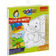 Набор для рисования Bondibon, Медведь (холст 25x25см на рамке,акр.краски,кисть,палитра)