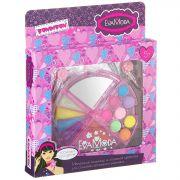 Набор детской декор. косметики Bondibon Eva Moda, BOX 21,5*18*3 см; 2 заколки , косметичка-долька с