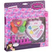 Набор детской декор. косметики Bondibon Eva Moda, BOX 25*24*3 см; лак для ногтей 2 оттенка (15,6г),