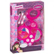 Набор детской декор. косметики Bondibon Eva Moda, BOX 24,5*16,5*3,5 см; косметичка круглая с зеркаль