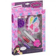 Набор детской декор. косметики Bondibon Eva Moda, BOX 24*15*5*2,5 см; бабочка с тенями для век 4 отт