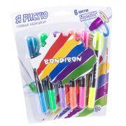 Набор гелевых карандашей для рисования Bondibon 6 цветов, CRD