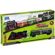 Железная дорога Train Track на бат.,14 дет.,3 вида, ВОХ 48х6,5х25 см, арт.HX2015-11/13/16.