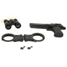 Набор игровой:пистолет на бат., наручники,бинокль, CRD, арт.HY071. grt-К86611 417 р. Оружие со звуковыми и световыми эффектами