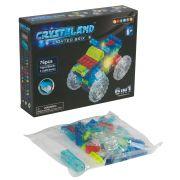 Конструктор пластмас. 76 дет., светящ. c  2-мя LED элементами, CRYSTALAND, автомобиль, 6в1 моделей,
