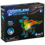 Конструктор пластмас. 48 дет., светящ. c 1-им LED элементом, CRYSTALAND, животное, 4в1 модели, ВОХ 2