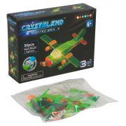 Конструктор пластмас. 50 дет., светящ. c 1-им LED элементом, CRYSTALAND, cамолёт, 3в1 модели, ВОХ 20