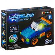 Конструктор пластмас. 62 дет., светящ. c  1-им LED элементом, CRYSTALAND, автомобиль, 3в1 модели, ВО