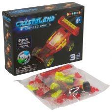 Конструктор пластмас. 56 дет., светящ. c 1-им LED элементом, CRYSTALAND, автомобиль, 3в1 модели, ВОХ grt-Г86905 578 р. С подсветкой