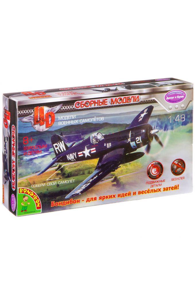 Сборная 4D модель самолёта, Воndibon, М1:48, ВОХ 13х4,5х22 см.