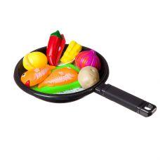 """Набор продуктов со сковородкой и фартуком, """"Моей Малышке"""", в наборе овощи в нарезку, доска, нож; в с grt-Д87110 YAKO 473 р. Кухни, наборы посуды"""