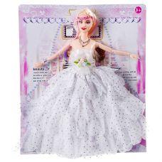 Кукла в белом платье с оборками, РАС 29 см, арт.726A1. grt-Д86998 307 р. Куклы модельные (аналоги Барби)