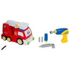 Набор 2в1 пожарная машина инерц.-конструктор с отвёрткой, ВОХ 47х24х15 см, арт.22914. grt-Г87002 2 100 р. Конструкторы для малышей с винтами и гайками