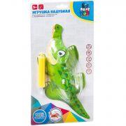 Игрушка надувная с инерц. механизмом Bondibon, в ассорт.: крокодил, динозавр, CRD