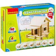 Конструкторы Bondibon Конструктор из деревянных брусьев №1, BOX 26x7x21 см