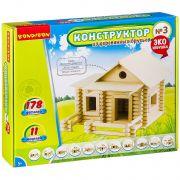 Конструкторы Bondibon Конструктор из деревянных брусьев №3, BOX 35x7x30 см