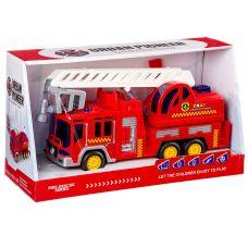 Пожарная машина на бат., свет, звук, ВОХ 33х11х17 см, арт.6699. grt-Б87685 1 073 р. Транспорт на батарейках