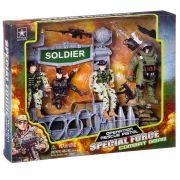 Набор игр. пласт. воен.техника с солдатами Special Force, BOX 4,2х23х28,5 см,  арт.6633B.