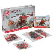 Констр. пласт.JIE STAR, BOX 5,5х28,5х19 см, пожарный вертолёт, арт.22030.