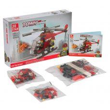 Констр. пласт.JIE STAR, BOX 5,5х28,5х19 см, пожарный вертолёт, арт.22030. grt-Г87700 528 р. Пожарная и скорая помощь