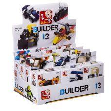 Набор пласт. конструкторов SLUBAN, Builder D/B 12 шт., ВОХ, 12 видов, арт. M38-B0591. grt-Г87709 SLUBAN 707 р. Стройка и специальная техника