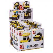 Набор пласт. конструкторов SLUBAN, Builder D/B 8 шт., ВОХ, стройка 4 вида, арт. M38-B0592.