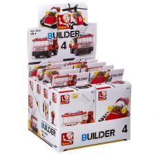 Набор пласт. конструкторов SLUBAN, Builder D/B 8 шт., ВОХ, пожарная тех. 4 вида, арт. M38-B0593. grt-Г87711 SLUBAN 882 р. Пожарная и скорая помощь