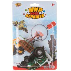 """Набор пластм. """"Ферма"""", 6 предметов, с инерционными игрушками, CRD 24x16 см, серия Мир micro Игрушек, grt-В88720 YAKO 156 р. Инерционный транспорт"""