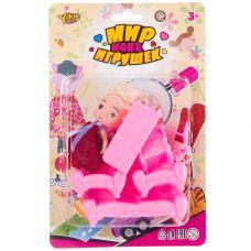 """Набор пластм. """"мебаль для куклы"""",6 предметов, кукла 8,5 см, CRD 24x16 см, серия Мир micro Игрушек, а grt-Д88731 YAKO 167 р. Домики, замки,кареты"""