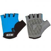 Перчатки STG детск.мод.819 с защитной прокладкой,застежка на липучке, размер S,синие